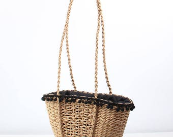 Summer Straw Bag  Hand Woven Bag handbag Vocation Beach Bag