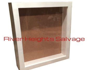 White Shadow Box 12 x 12, Window box Display box Picture Frame Deep shadow box Best Selling Display Frame Popular Trending Gift Wedding