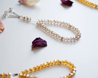 Mini Tasbih 33 Crystal Bead | Muslim Prayer Beads | Eid Gift