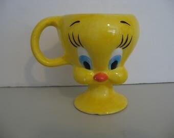 RARE!! Warner Bros. Looney Tunes - 3D Tweety Bird Coffee Cup Mug