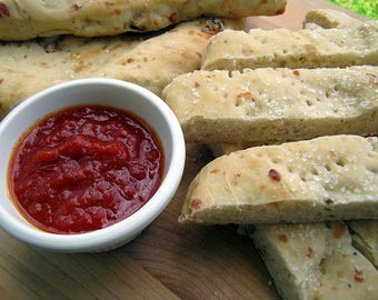 Rustic Flatbread, Dipping Breads, Pizza Crusts, Homemade Bread, Roasted Garlic, Pizza Margherita