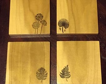 Poplar: Wooden Drink Coasters