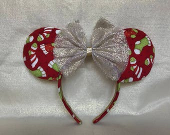 Christmas stocking mouse ears