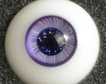 Lavender Skies - Handmade Purple Giltter BJD Glass Eyes (D01) | 12mm, 14mm, 16mm