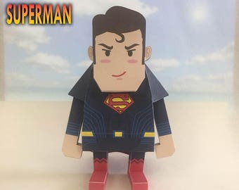 Super Heroes Paper Toy Printable Instant Download - Superman