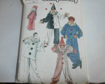 Simplicity Sewing Pattern 5740 Adult Clown Costumes Size Small