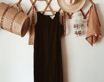 Black Linen Blend Dress