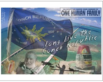 Postcard Magnet Conch Republic