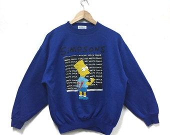 Rare!!! The Simpsons Sweatshirt Cartoon Bart Simpsons Crewneck Vintage 1991