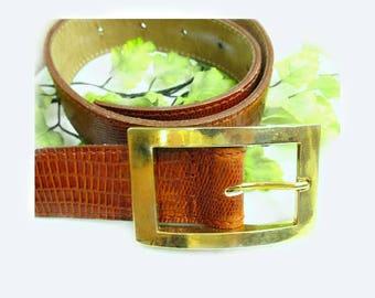 brown leather belt ,split hide leather belt - cowhide belt -  brown leather belt, small belt, waist to 25 to 29 inches, # B 72