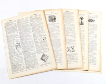 "50 Vintage Dictionary Pages Collage Craft Paper Decoupage Scrapbooking 8"" x 11"""