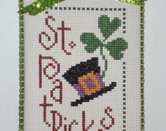 """Finished Cross Stitch """" St Patricks """""""