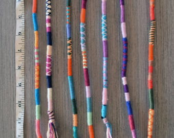 Fully Customized colorfull Hairwraps / atebas with a wool base