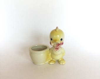 Vintage 40s Rempel Pottery Baby Chick Planter