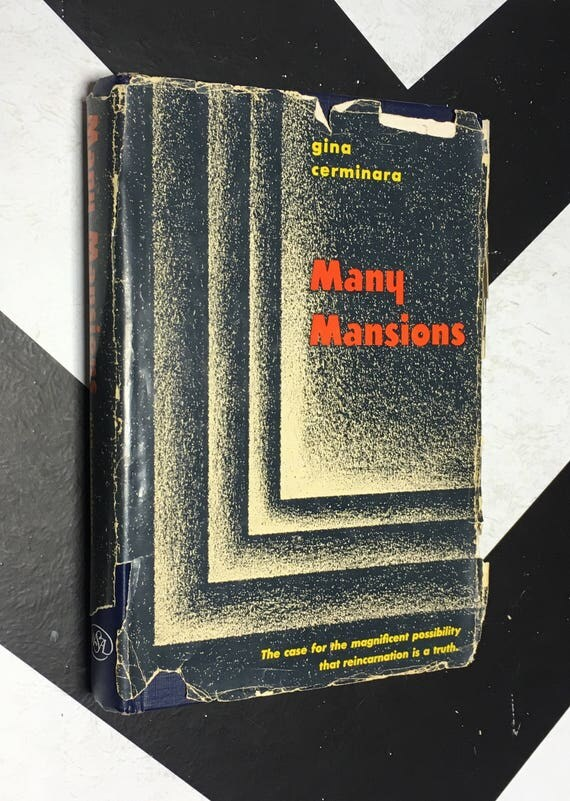 Many Mansions by Gina Cerminara vintage rosicrucian occult esoteric book (Hardcover, 1954)