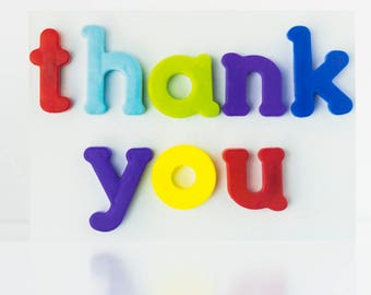 Thank You - Blank Greetings Card - Photography - Photo - Colourful - Words - Thank You Card