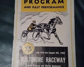 1950 Baltimore Raceway Official Program