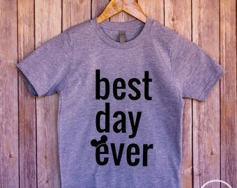 ON SALE Best Day Ever Kids Shirt/Disney Shirt/Disney Kids Vacation Shirt