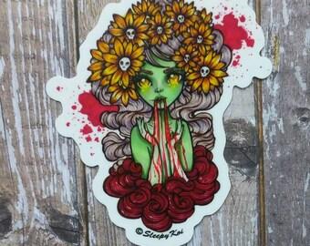 Ghoul - Halloween themed 3 inch Die Cut vinyl sticker /decal from drawlloween /inktober 2017