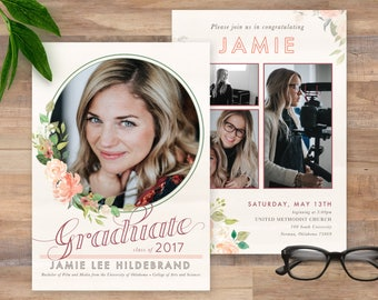Female Graduation Announcement