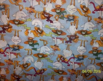 Mitzi The Duck Packed 100% Cotton Fabric #7
