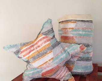 Sunset Toy Bag + matching cushion