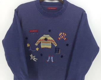 Vintage 90's Mile Stones Classic Design Skate Sweat Shirt Sweater Varsity Jacket Size M #A870