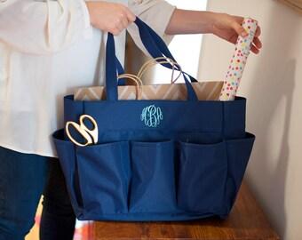 Monogrammed Carry-All Bag / Monogrammed tote / Craft bag