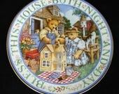 Royal Doulton  Bless This House  Bone China Display Plate  Linda Hill Griffith  Limited Edition  Made in England  CP2130