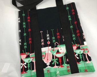 Cocktail Print Tote Bag