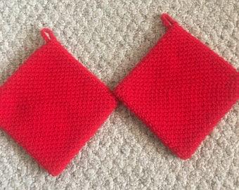 Crochet potholder set