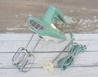 Vintage General Electric Hand Mixer Aqua Retro Vintage Kitchen Mixer With Immersion Attachment Cool Design