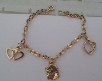 gold plated love bracelet
