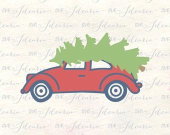 Christmas Car Svg, Christmas Tree Svg, Christmas truck svg, Christmas 2017 svg, vintage svg, red truck svg, vintage car svg, xmas svg