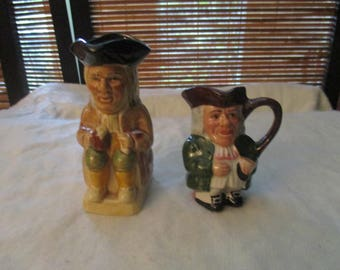 Set of Two Small Toby Jugs - Woods and Son, Artone