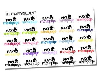 Pay Mortgage Sheet