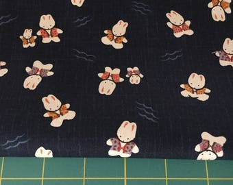 Adorable Bunny Cotton Fabric Japanese Cotton 3 yards