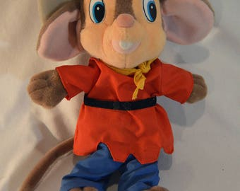 1990s Vintage American Tail: Fievel Goes West Fievel 12.5 Inch Collectable Stuffed Animal