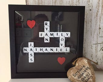 Personalised Scrabble Art Picture Frame