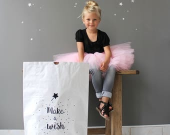 "Paper bag ""Make a wish"" customizable"