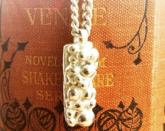 Handmade Silver ball cluster pendant