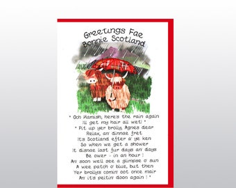 Greetings Coos with Umbrelly Card WWGR29