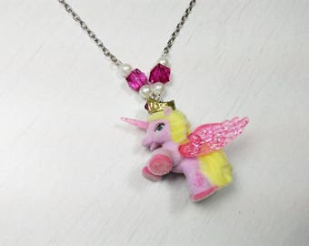Horn - recycling toy Kawaii necklace little pony