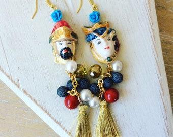 Earrings with meringue
