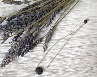 Essential Oil Diffuser Bracelet, Minimalist Bracelet, Lava Stone Diffuser Jewelry, Chain Bracelet, Gift for Her, FoxAndBearEssentials