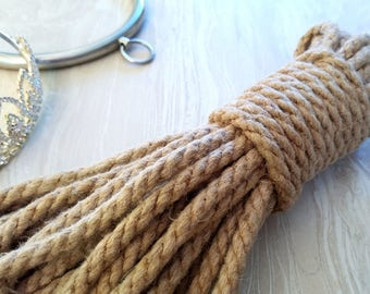 Bondage Rope Kit - (3) 20' Lines of 6mm Conditioned Hemp for Shibari, Hojojutsu, Kinbaku, and BDSM Rope Bondage - Soft and Buttery Smooth