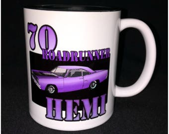 Hot Rod, Custom Car Coffee Mug, Street Rod, Roadster, 70 Roadrunner, Roadrunner Hemi