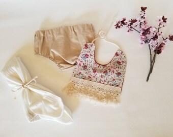 Bloomer•Diaper cover•summer•tan•standard waist•6 months•one year•12 months•18 months•cake smash•accessory• prop•baby girl•birthday•shower•