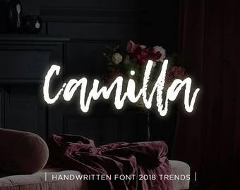 Camilla digital font download, Calligraphy font, Digital font, Wedding font, Handwritten font, Download digital font, Swirly font, Script