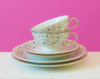Charming vintage Gedeck set Bavaria ivory porcelain